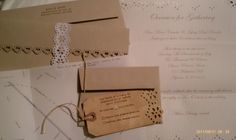 DIY - Cute die-cut invitations http://rusticweddingchic.com/diy-vintage-inspired-wedding-invitations