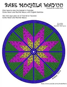 """The location where building and construction meets style, beaded crochet is the act of using beads to decorate crocheted products. """"Crochet"""" is derived fro Tapestry Crochet Patterns, Crochet Dolls Free Patterns, Crochet Flower Patterns, Crochet Designs, Beading Patterns, Knitting Patterns, Mochila Crochet, Resin Wall Art, Pixel Pattern"""