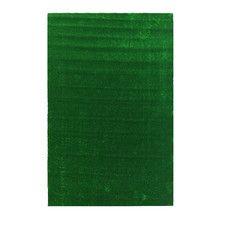Evergreen Artificial Solid Grass Design Green Indoor/Outdoor Area Rug