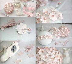 christmas tree ornaments paper flowers pins foam ball