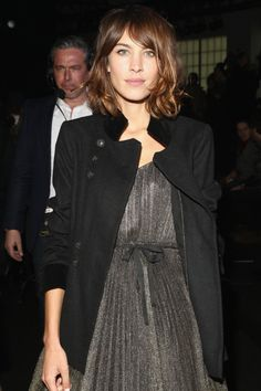 alexastyle:Alexa Chung attends the Marc By Marc Jacobs fashion show during Mercedes-Benz Fashion Week Fall 2015 at Pier 94 on February 17, 2015 in New York City.