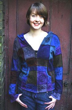 Gorgeous fair trade patchwork hoodie...