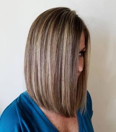20 Best Hair Color Ideas in the World of Chunky Highlights - - Brown Bob with Blonde Highlights Blonde Lowlights, Brown Hair With Blonde Highlights, Hair Color Highlights, Chunky Highlights, Auburn Highlights, Caramel Highlights, Auburn Balayage, Ashy Balayage, Balayage Color