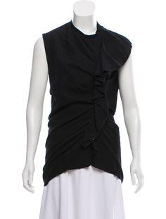 Lanvin Ruffled Sleeveless Top - Clothing - LAN78415 | The RealReal
