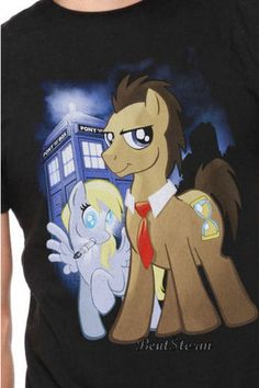 New My Little Pony Dr Whooves Cover Who Black T Shirt Tee Brony Mens Hot Topic | eBay