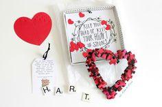 ABC kaartenproject: De H van een Hart onder de riem | Een hart gemaakt van puzzelstukjes | 365 Miles to Paris | #snailmail #abcsnailmail #valentijnskaart