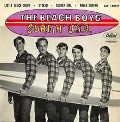 Cover of The Beach Boy's single Surfin' USA on Capitol Records