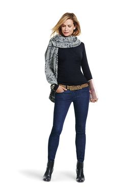 Gigi Cape - Cabi Fall 2015 Collection. Gigi can be styled so many ways. Here she is as a scarf. www.Christineworrell.cabionline.com