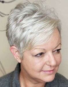 80 Best Modern Hairstyles and Haircuts for Women Over 50 Over 50 Feathered Silver Pixie with Bangs Short Pixie Haircuts, Pixie Hairstyles, Hairstyles With Bangs, Cool Hairstyles, Fringe Hairstyles, Asian Hairstyles, Black Hairstyles, Hairstyle Ideas, Japanese Hairstyles