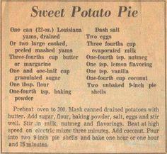 Louisiana  sweet  potato  pie