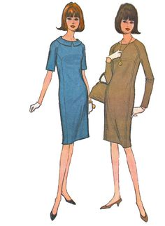 McCalls 7969 1960s Misses Dress Sewing Pattern by retromonkeys, $12.00
