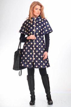Пальто, 822, горошек, Denissa Fashion