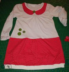 das Pu: ein Tutorial, oder wie aus einem Shirt ein Kleid mit Bubikragen wird (Peter-Pan-Kragen)