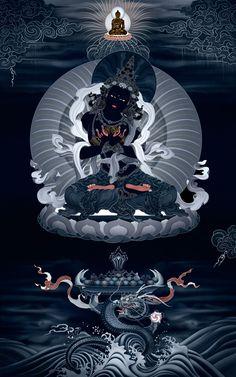 Vajradhara Buddha #Thangka TraditionalArtOfNepal.com