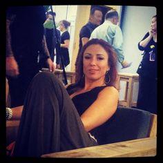 The Boss 'photobombt' Natalia