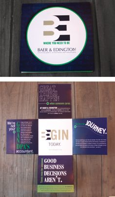 Custom brochure for accounting firm, by BOLD Marketing.