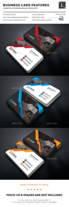 Corporate Business Card Template PSD. Download here: http://graphicriver.net/item/corporate-business-card/16095859?ref=ksioks