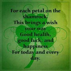 For each petal on the shamrock