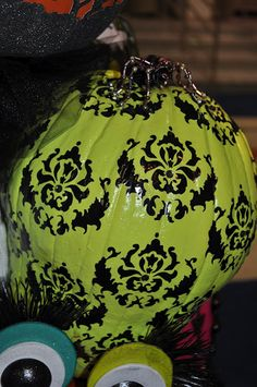 sweater pumpkins and stencil pumpkins