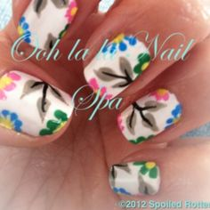 ~Spring Nail Art~  inspired by Robin Moses