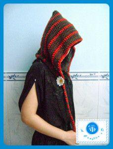 crochet adult size hood (free pattern)
