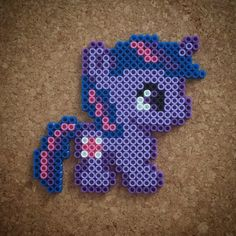 MLP Baby Twilight Sparkle perler beads by halemark. Melty Bead Designs, Melty Bead Patterns, Hama Beads Patterns, Beading Patterns, Fuse Beads, Pearler Beads, Minecraft Beads, Metal Art Projects, Nerd Crafts