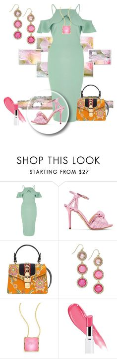 """Pink Shoes contest"" by empathetic ❤ liked on Polyvore featuring River Island, Charlotte Olympia, Gucci, INC International Concepts, Alexis Bittar and Lancôme"