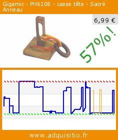 Gigamic - PH6108 - casse tête - Sacré Anneau (Jouet). Réduction de 57%! Prix actuel 6,99 €, l'ancien prix était de 16,37 €. http://www.adquisitio.fr/gigamic/ph6108-casse-t%C3%AAte-sacr%C3%A9
