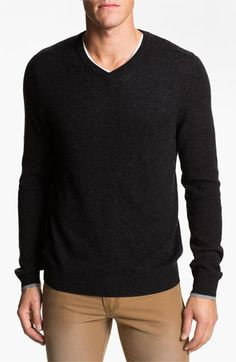 1901 Trim Fit V-Neck Cashmere Sweater available at #Nordstrom