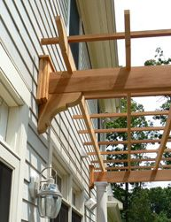 Nicely finished attachment to house on attached pergola paying attention Pergola Attached To House, Deck With Pergola, Backyard Pergola, Outdoor Landscaping, Deck Patio, Wooden Pergola, Gazebo, Garage Pergola, Pergola Plans