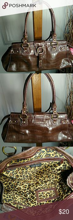 Selling this Nine West chocolate brown purse on Poshmark! My username is: sweetthreds. #shopmycloset #poshmark #fashion #shopping #style #forsale #Nine West #Handbags