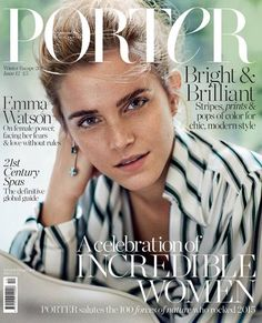 Emma Watson Covers Porter Magazine Winter Escape 2015