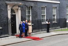 Donald Trump UK visit live: President welcomes Charles and Camilla - BelfastTelegraph.co.uk Winfield House, Theresa May, Duchess Of Cornwall, Prince Of Wales, Us Presidents, Camilla, Black Tie, Donald Trump, Live