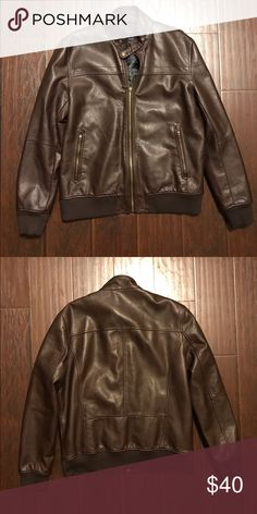 Zara man faux leather jacket Zara man faux leather chocolate brown winter or fall jacket. In great otw loved condition, no signs of wear. No stains, holes, or rips. Retails at $99 Zara Jackets & Coats