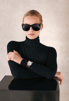 Ralph Lauren Eyewear: The Ricky Frame is one of Ralph Lauren's most iconic eyewear shapes, that reflects understated glamour. Black Women Fashion, Look Fashion, Winter Fashion, Womens Fashion, Fashion Trends, Street Fashion, Luxury Fashion, Petite Fashion, Curvy Fashion