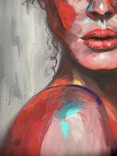 [ Colorful portrait Art print Abstraction Beautiful woman Abstract wall ] This artwork is named Simple Acrylic Paintings, Acrylic Portrait Painting, Oil Painting Abstract, Painting Art, Detailed Paintings, Modern Art Paintings, Painting People, Acrylic Painting Canvas, Woman Painting