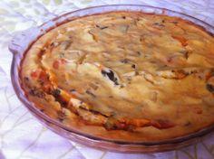 Torta de legumes com massa de iogurte - 37kcal a fatia