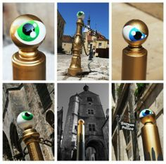 french artiste called Cyklop play with the eye symbol (big brother is watching you)