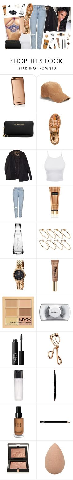 """""""Aug 6 """" by frezhstyle ❤ liked on Polyvore featuring Goldgenie, rag & bone, Michael Kors, Puma, Barbour, LE3NO, Topshop, Susquehanna Glass, Mercedes-Benz and ASOS"""