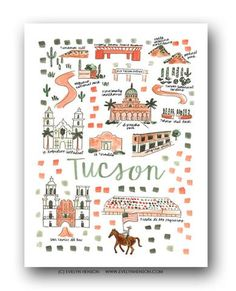 Tucson, AZ Map Print