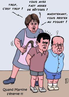 Martine Aubry, Manuel Valls, François Hollande, humour politique, caricatures…