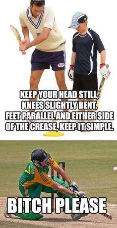 AB de Villiers. Hahaha