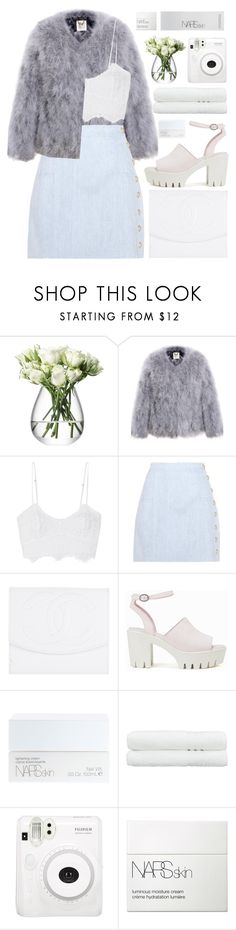 """""""blue bambi"""" by charli-oakeby ❤ liked on Polyvore featuring LSA International, Miguelina, Balmain, Chanel, Nly Shoes, NARS Cosmetics, Linum Home Textiles, Fuji, contest and happy"""