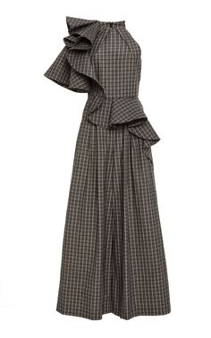Acler Piper Wide Leg Jumpsuit In Grey Simple Dresses, Casual Dresses, Fashion Dresses, Stylish Dresses, African Fashion, Iranian Women Fashion, Mode Style, Classy Outfits, Designer Dresses