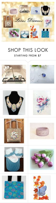 """""""Lotus Dreams: Beautiful Gifts for Her"""" by paulinemcewen ❤ liked on Polyvore featuring rustic"""
