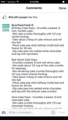 Cake Pops Part #1