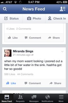 MIRANDA SINGS  If you dont know her look her up on youtube my role model