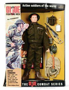 GI Joe British Commando Action Soldiers Of The World set By Hasbro. Gi Joe, Vintage Toys 1960s, Retro Toys, 1960s Toys, 1970s, Childhood Toys, Childhood Memories, British Commandos, Star Trek Books