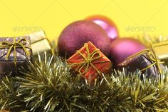 Realistic Graphic DOWNLOAD (.ai, .psd) :: http://vector-graphic.de/pinterest-itmid-1006620822i.html ... Christmas decoration with gift and garlands ...  balls, basket, baubles, bows, boxes, christmas, concept, conceptual, decorations, garlands, gifts, globe, holiday, nativity, notion, tree, xmas, yellow  ... Realistic Photo Graphic Print Obejct Business Web Elements Illustration Design Templates ... DOWNLOAD :: http://vector-graphic.de/pinterest-itmid-1006620822i.html