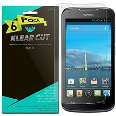 Huawei Ascend Y520 Screen Protector [6-Pack], Klear Cut High Definition Matte Screen Protector for Huawei Ascend Y520 PET Film Anti-Glare and Anti-Bubble Shield -- Click on the image for additional details. (This is an affiliate link) #ScreenProtectors